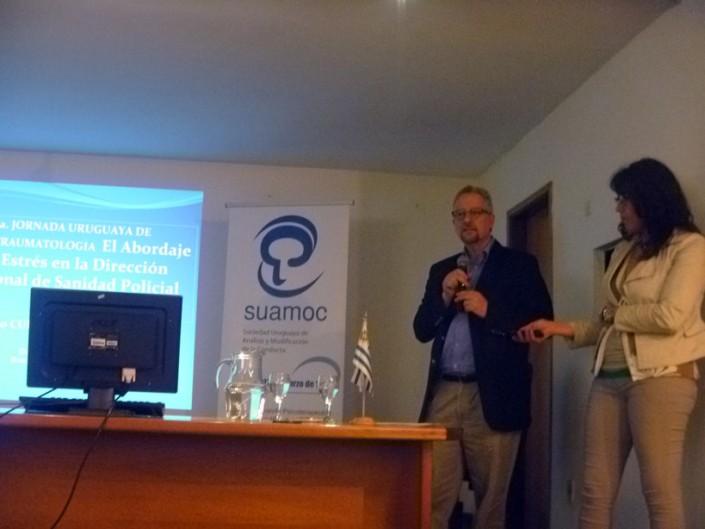 Dr. Osmio Curbelo y Lic. Silvia Araujo,Directores del Departamento de Salud Mental de la Dirección Nacional de Sanidad Policial