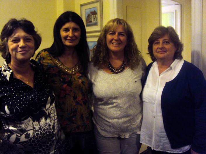 Dra.Myriam Calero e Ivone Spinelli con la Dra. Laura Ramos y la Lic. Ps. Mariela Ramos
